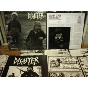DISASTER - War Cry MLP + Flexi BLACK VINYL