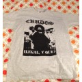 LOS CRUDOS - Ilegal y Que? Grey T-shirt