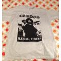 LOS CRUDOS - Ilegal y Que? Grey T-shirt