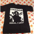 LOS CRUDOS - Ilegal y Que? Black T-shirt