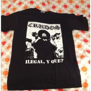 LOS CRUDOS - Ilegal y Que? Black T-shirt