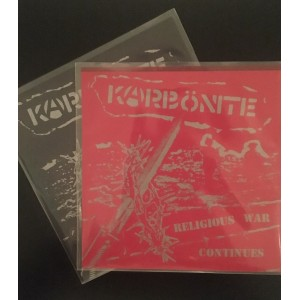 "KARBÖNITE - Religious War Continues Flexi 7"" RED"