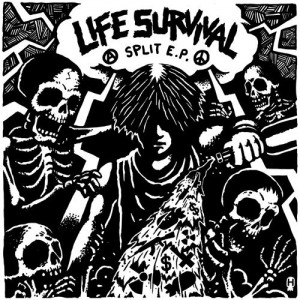 LIFE / INSTINCT OF SURVIVAL - Life Survival Split 7""